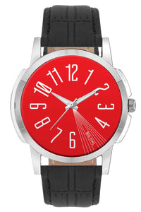 Wrist Watches India | Bigowl Red Minimal Wrist Watch Online India.