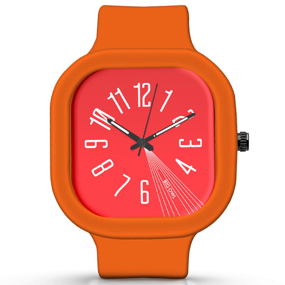 Unisex Men And Women Wrist Watch India | Basic Red MinimalSilicone Square Unisex Wrist Watch Online India