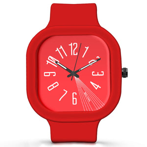 Unisex Men And Women Wrist Watch India | Basic Red Minimal Waterproof Silicone Unisex Wrist Watch For Men And Women  Online India