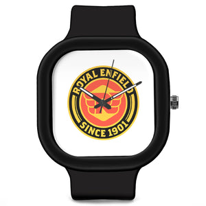 Unisex Men And Women Wrist Watch India |  Royal Enfield Logo Analog  Silicone Square Unisex Wrist Watch Online India