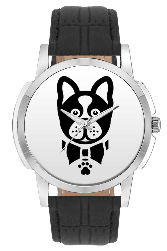 Wrist Watches India | French Bulldog Illustration Wrist Watch Online India.