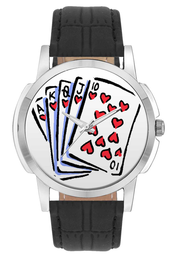 Wrist Watches India | Playing Cards Illustration Wrist Watch Online India.
