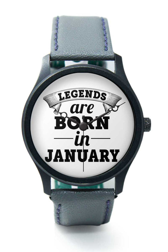 Wrist Watches India | Legends are Born In January Premium Men Watch Online India.