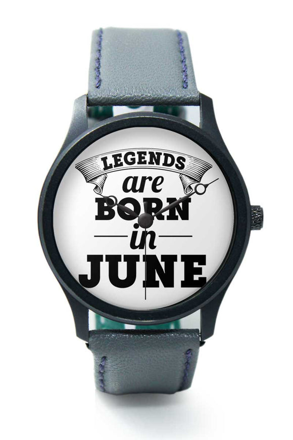 Wrist Watches India | Legends are Born In June Premium Men Watch Online India.