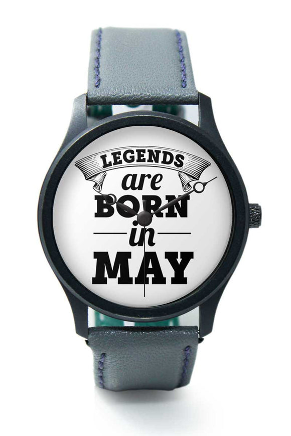Wrist Watches India | Legends are Born In May Premium Men Watch Online India.