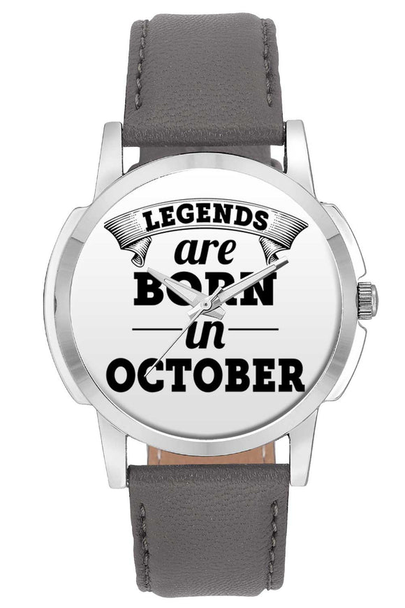 Wrist Watches India | Legends are Born In October Wrist Watch Online India.
