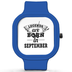 Unisex Men And Women Wrist Watch India |  Legends are Born In September Analog  Silicone Square Unisex Wrist Watch Online India