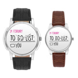 Wrist Watch India |  14 February To Do List  Couple Watch  Online India