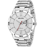 Basics Analogue White Dial Men's & Boy's Watch - Bobasic-01-Men