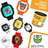 Unisex Men And Women Wrist Watch India |  Dance Mode On Analog  Silicone Square Unisex Wrist Watch Online India