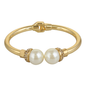 Entice Selections Elegant White Pearl Gold Bracelet For Women And Girls