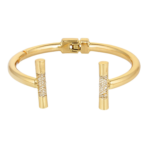 Entice Selections Shinning Fashionable Gold Bracelet With Crystal For Women And Girls