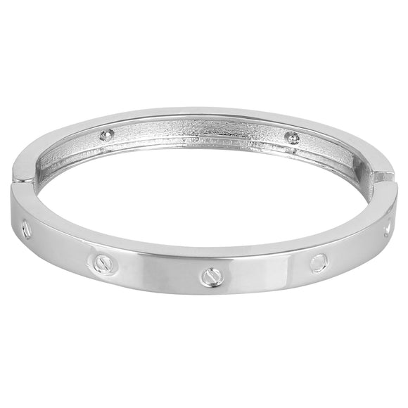 Entice Selections Designer Inspired Stainless Steel Bangle Bracelet for Women or lovers sweethearts