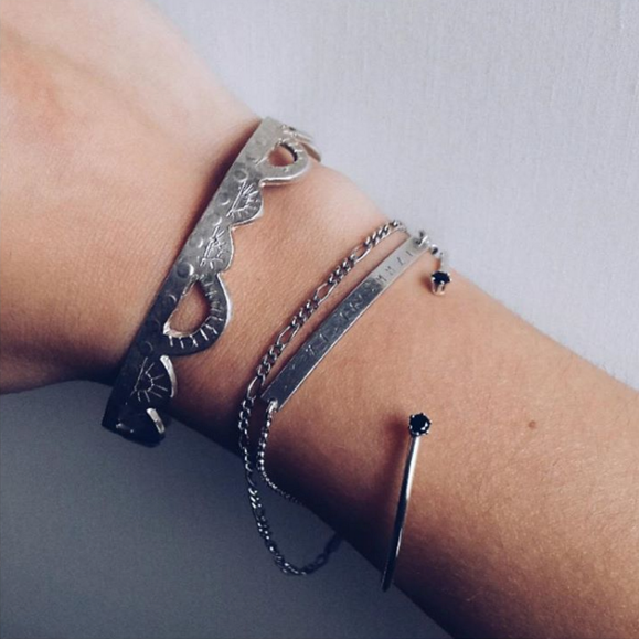 Bracelet stacking on jewelry blogger Sophie from Made of Jewelry