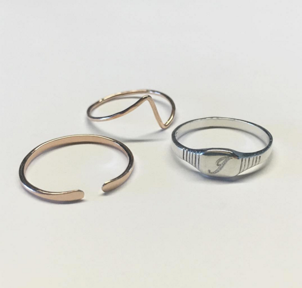 dainty everyday stacking rings