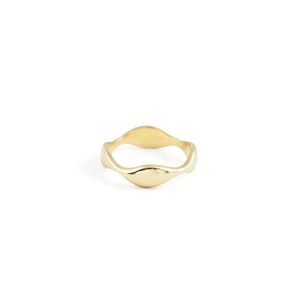 wave organic blob ring vermeil 14k stacking ring