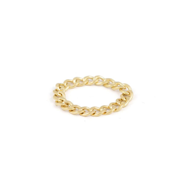 handmade small curb chain stacking ring 14k gold filled