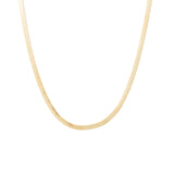 simple snake herringbone minimal gold filled high quality layering necklace