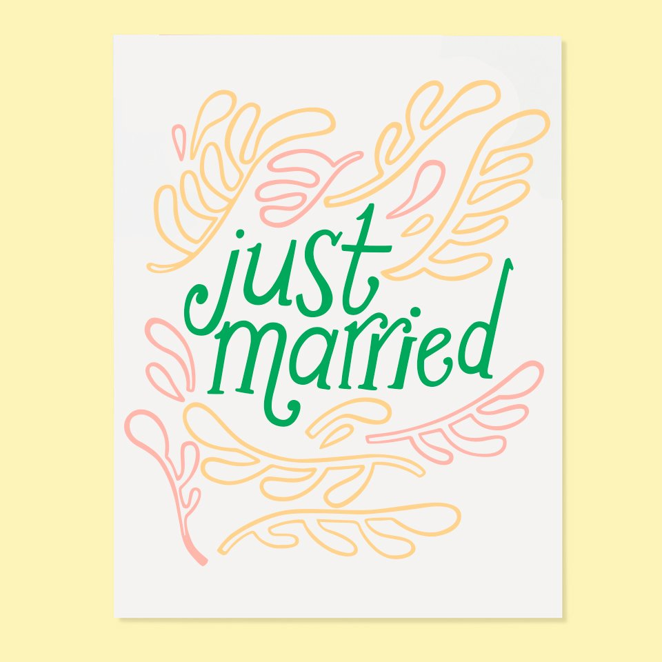 Just Married Card | The Good Twin