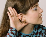 Checkered Ear Cuff