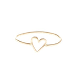 heart love gold filled sterling silver stacking band ring valentine's day gift
