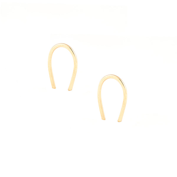 gold filled sterling silver minimal everyday versatile earrings ear threaders