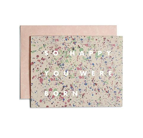 Speckled Birthday card | Moglea