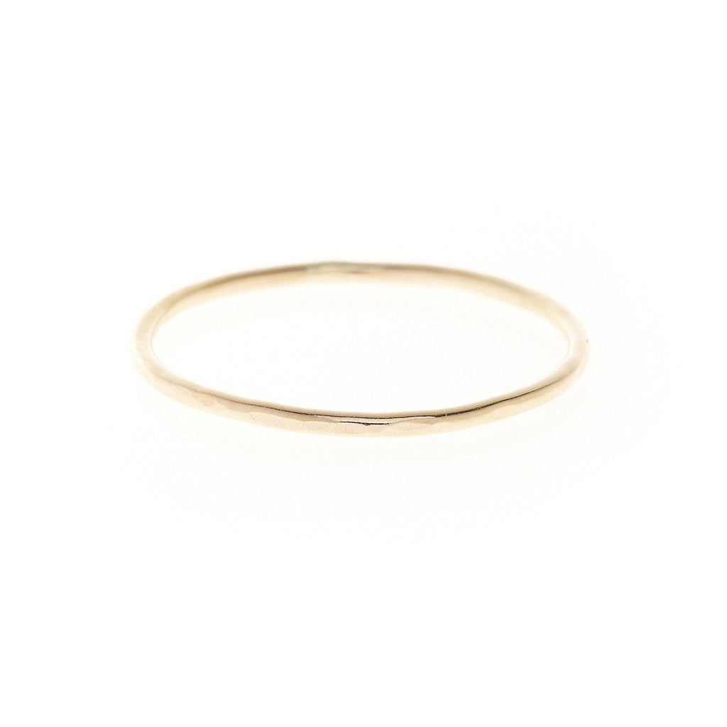 gold filled sterling silver simple wedding band ring