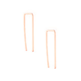 rose gold filled sterling silver bar ear threader crawler climber versatile earrings