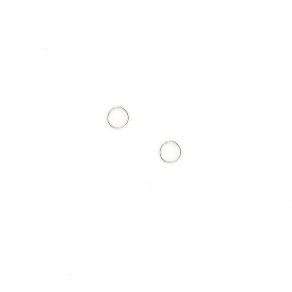 sterling silver gold filled tiny circle stud everyday earrings