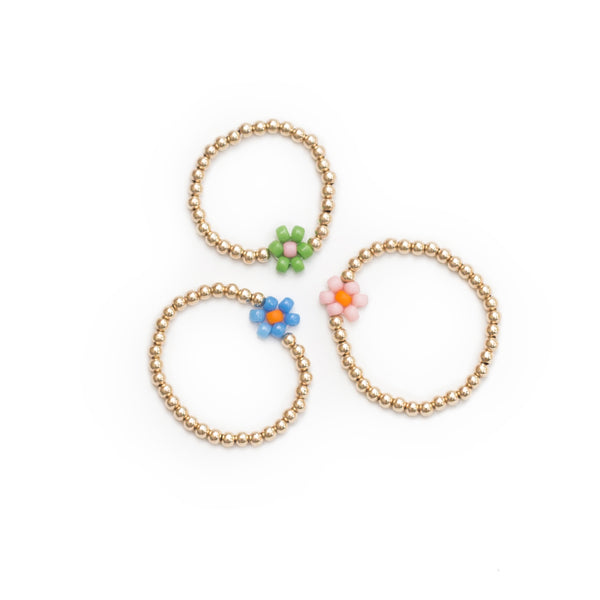 Beaded Flower Ring
