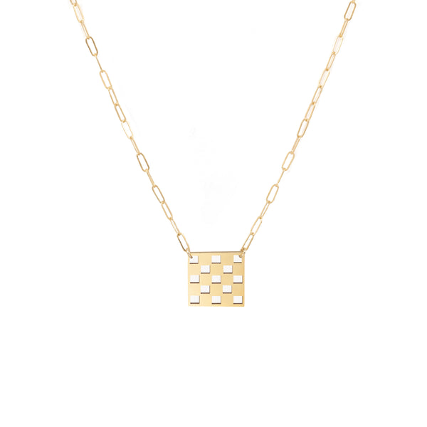 Checkered Necklace