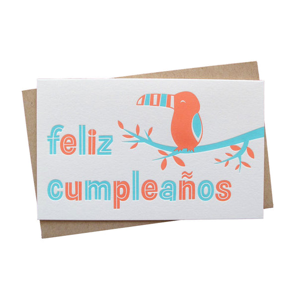 Spanish Toucan Birthday Card | Anemone Letterpress