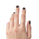 gold filled sterling silver loop minimal stacking everyday ring