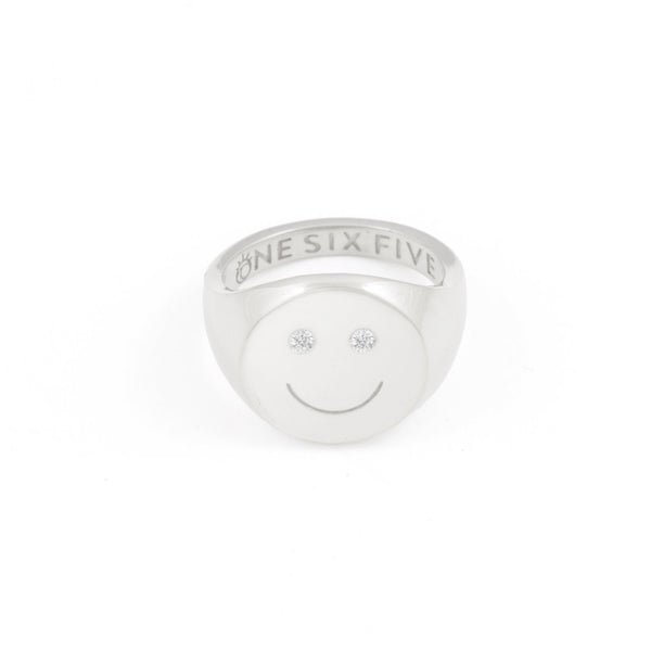 Smiley Signet Ring- Sterling Silver