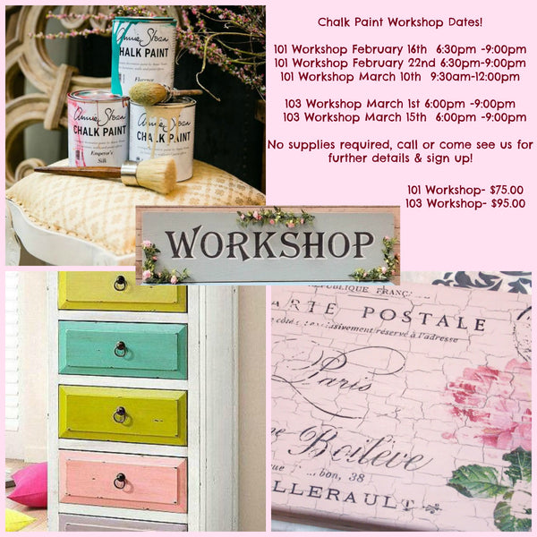 Chalk Paint Workshop Dates!