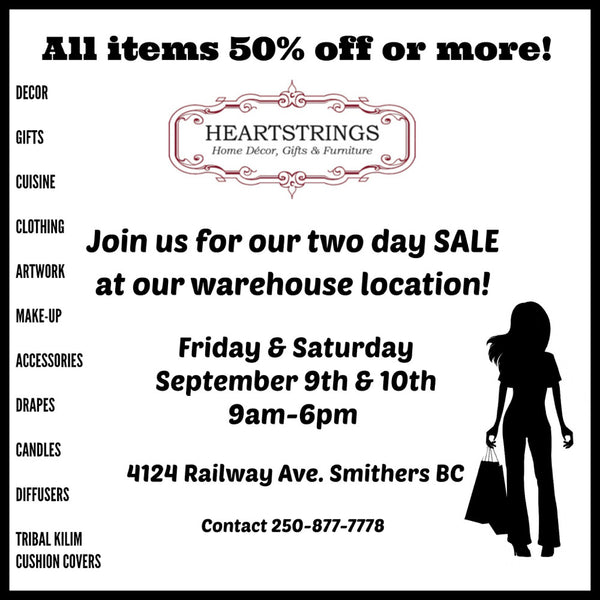 Join Us For Our Two Day Sale In September!
