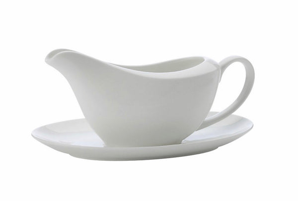 Maxwell & Williams- White Basics Gravy Boat & Saucer