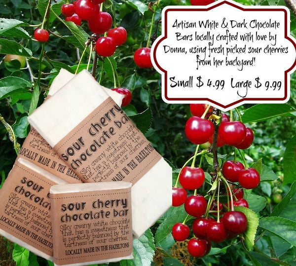 Donna's Goodies- Artisan Crafted Sour Cherry Chocolate Bars