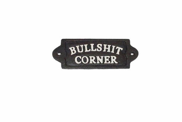 BS Corner Plaque, Cast Iron