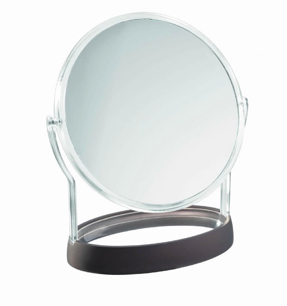 InterDesign - Gina Vanity Mirror/Clear & Matte Black