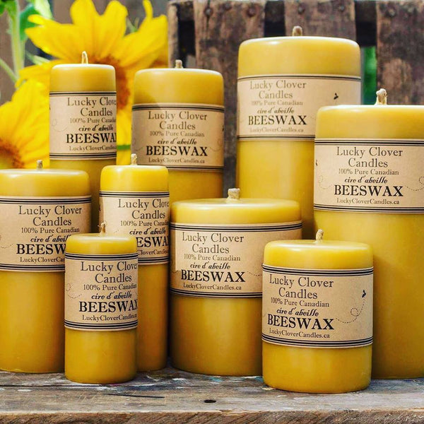 Beeswax Candles, Pillar (Drip)-Natural