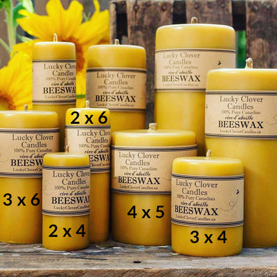 Beeswax Candles, Pillar-Natural