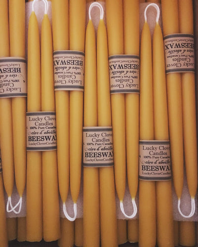 "Beeswax 8"" Tapers-Natural"