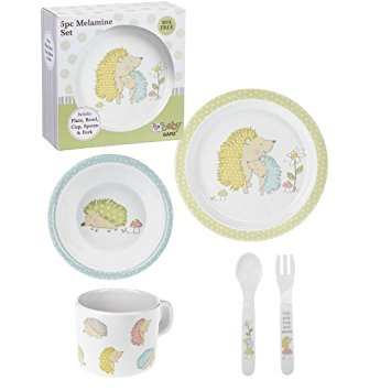 Ganz- 5pc Melamine Kids Dish Set, Hedgehogs