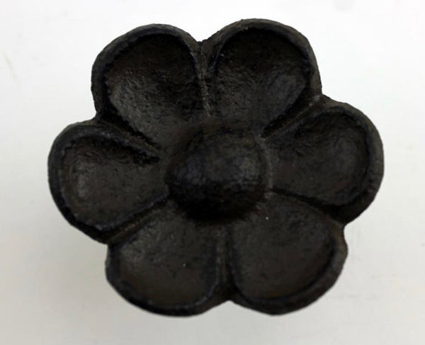 Flower Pull Knob, Cast Iron