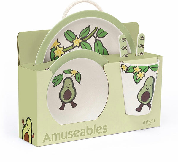 Amuseable Avocado, Bamboo Dish Set-Jellycat