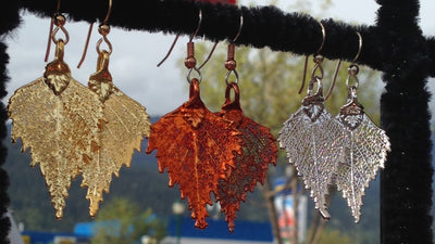 Frosted Leaves- B.C Aspen Leaf Necklace Sm