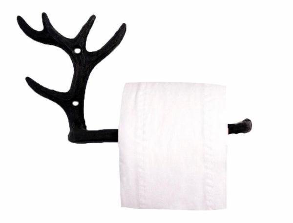 Antler Toilet Paper Holder, Cast Iron