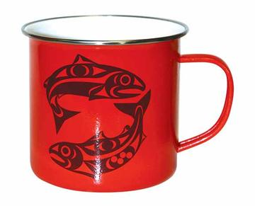 Enamel Mug, Salmon-Maynard Johnny Jr.